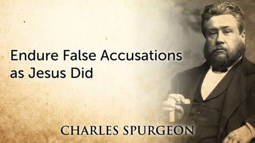 Endure False Accusations as Jesus Did