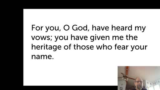 Sat. Jan. 9,  '21 Morning PPT Psalm 61