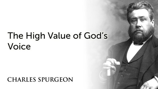 The High Value of God's Voice