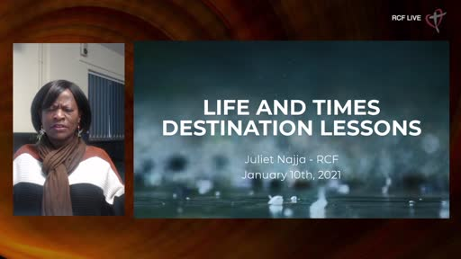 RCF 100121 All Aged Service - Juliet Najja - Times and Seasons