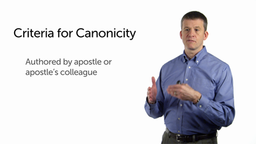 The Criteria and the Debate of Canonicity
