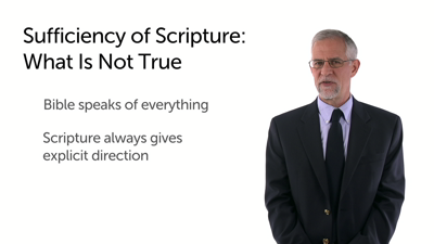 Scripture's Sufficiency: Implications