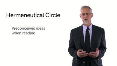 The Hermeneutical Circle