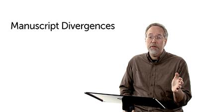 Manuscript Divergences