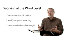 How to Work at the Word Level