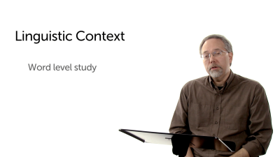Introduction to Linguistic Context