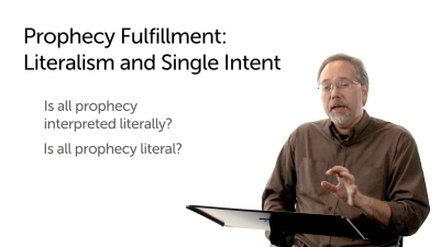 Prophecy Fulfillment: Literalism and Single Intent