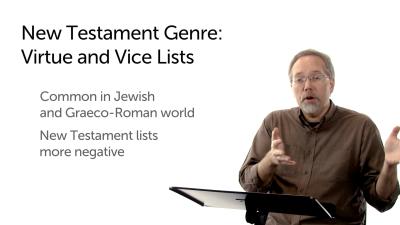 New Testament Vice/Virtue List