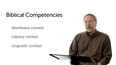 Three Biblical Contexts