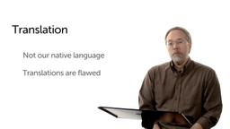 Obstacle #6: Translation