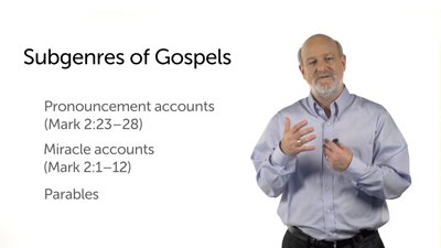 Subgenres within the Gospels