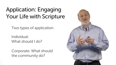 Application: Engaging Your Life with Scripture
