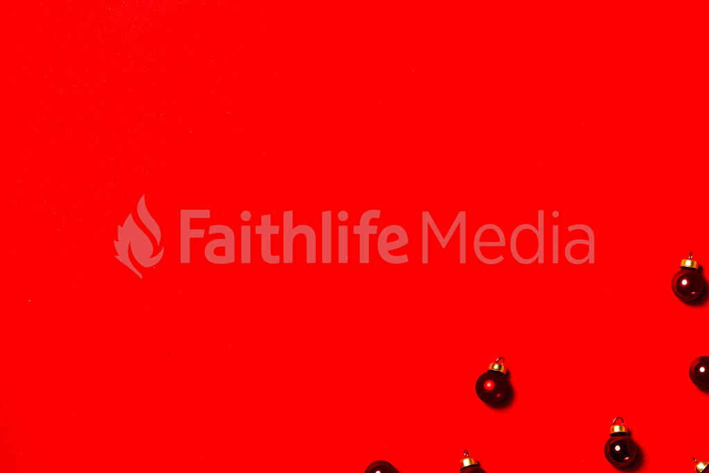 Mini Red Christmas Ornaments large preview