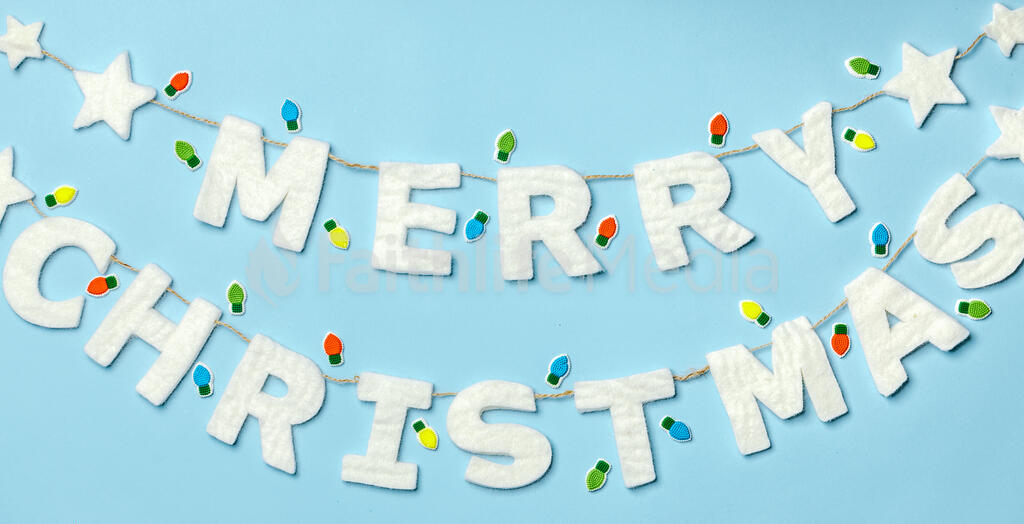 Felt Merry Christmas Banner large preview