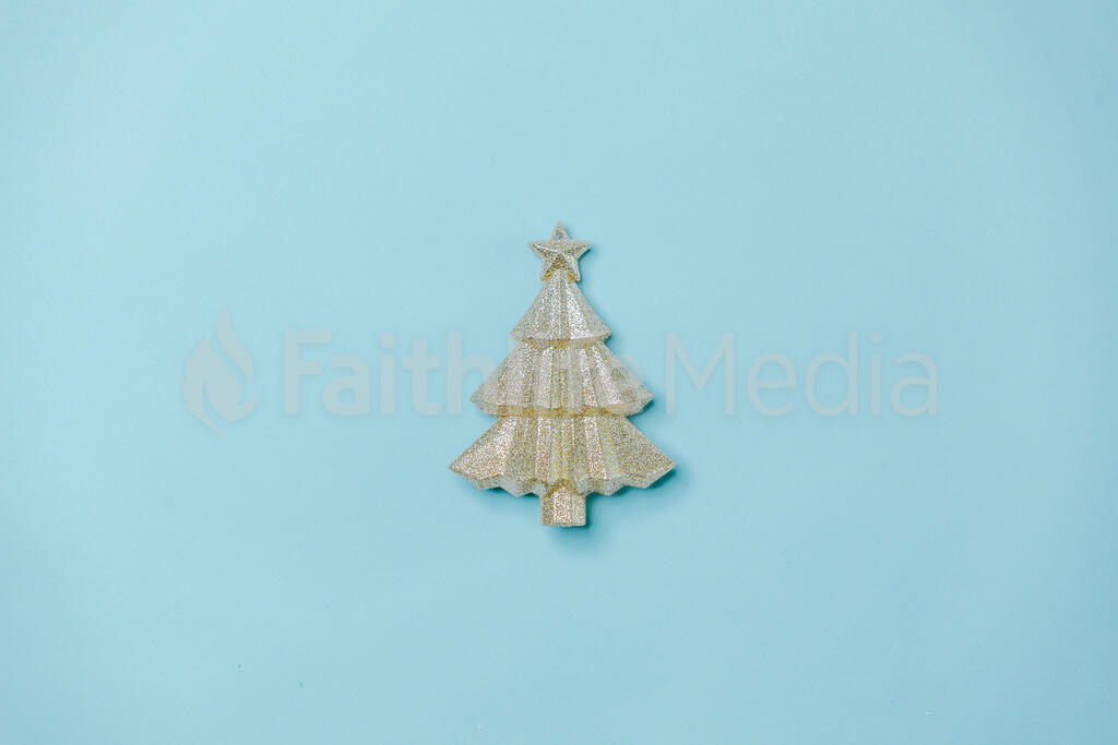 Gold Christmas Tree large preview