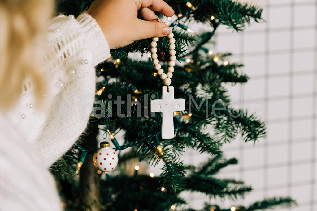 Cross Christmas Ornament large preview