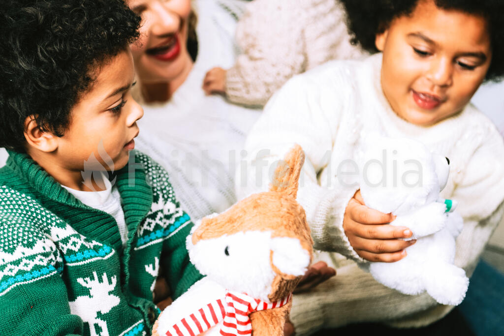 Kids Opening Christmas Presents large preview