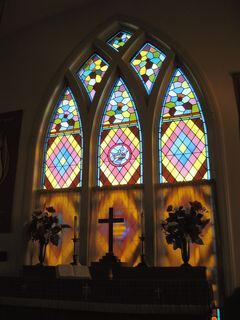Stained Glass Window At Altar