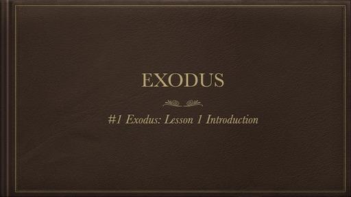Torah Study: Exodus