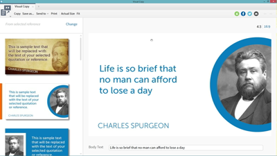 Creating and Sharing Inspirational Quotes with Visual Copy