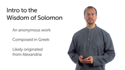 Introduction to the Wisdom of Solomon