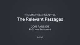 The Relevant Passages