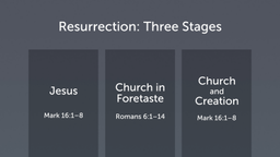 Resurrection in Three Stages