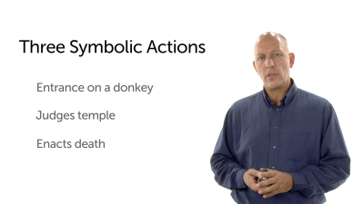 Three Symbolic Actions of Jesus