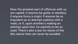 Jewish Condemnation of Homosexuality