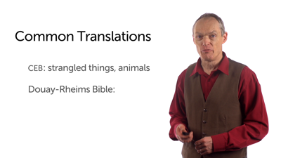 A Note on Bible Translations