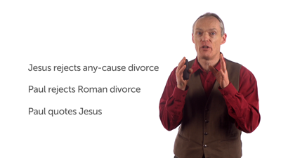 Jesus and Paul's Perspectives on Divorce