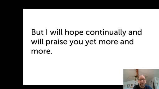 Fri. Jan 15, '21 Afternoon PPT Psalm 71