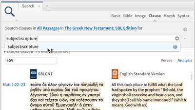 Using the Clause Search to Find Where Scripture Was Fulfilled