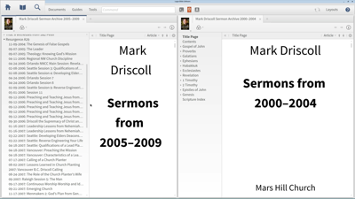 Finding and Bookmarking Resources from Modern Preachers