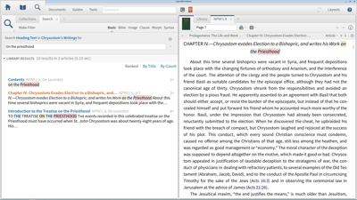 Search a Custom Collection of Chrysostom's Writings