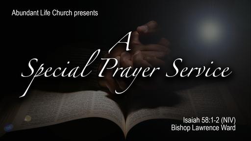 ALC Special Prayer Service