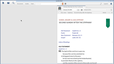 Resources for Planning a Sermon Calendar