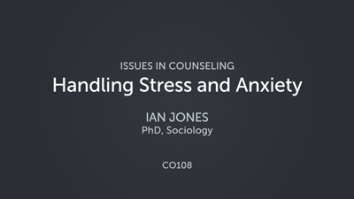 Handling Stress and Anxiety