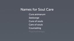 Defining Soul Care