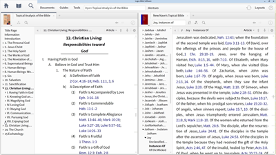 Using Topical Analysis Resources to Find Encouraging Bible Passages