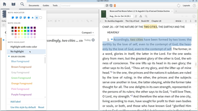 Using Notes to Track Augustine's View of the Two Cities