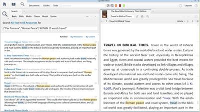 Using Search Operators to Find Information about Roman Travel
