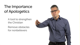 Apologetics, Confidence, and Removing Obstacles