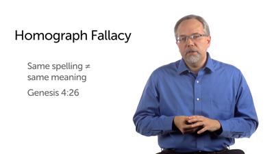 Homograph Fallacy