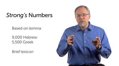 Lexicons' Use of Strong's Numbers
