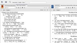 Reverse Interlinear English Bible Translations