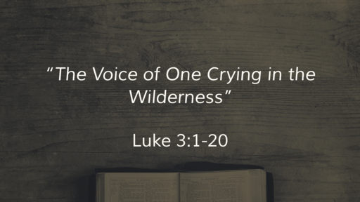 """""""The Voice of One Crying in the Wilderness"""""""