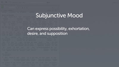 Introducing the Subjunctive