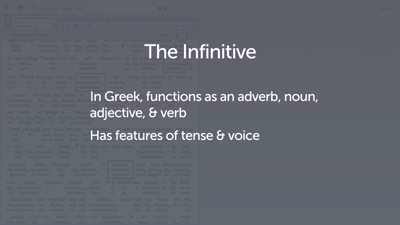 Introducing the Infinitive