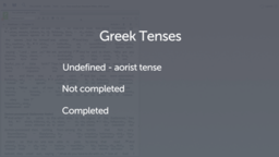 Introducing the Present Tense